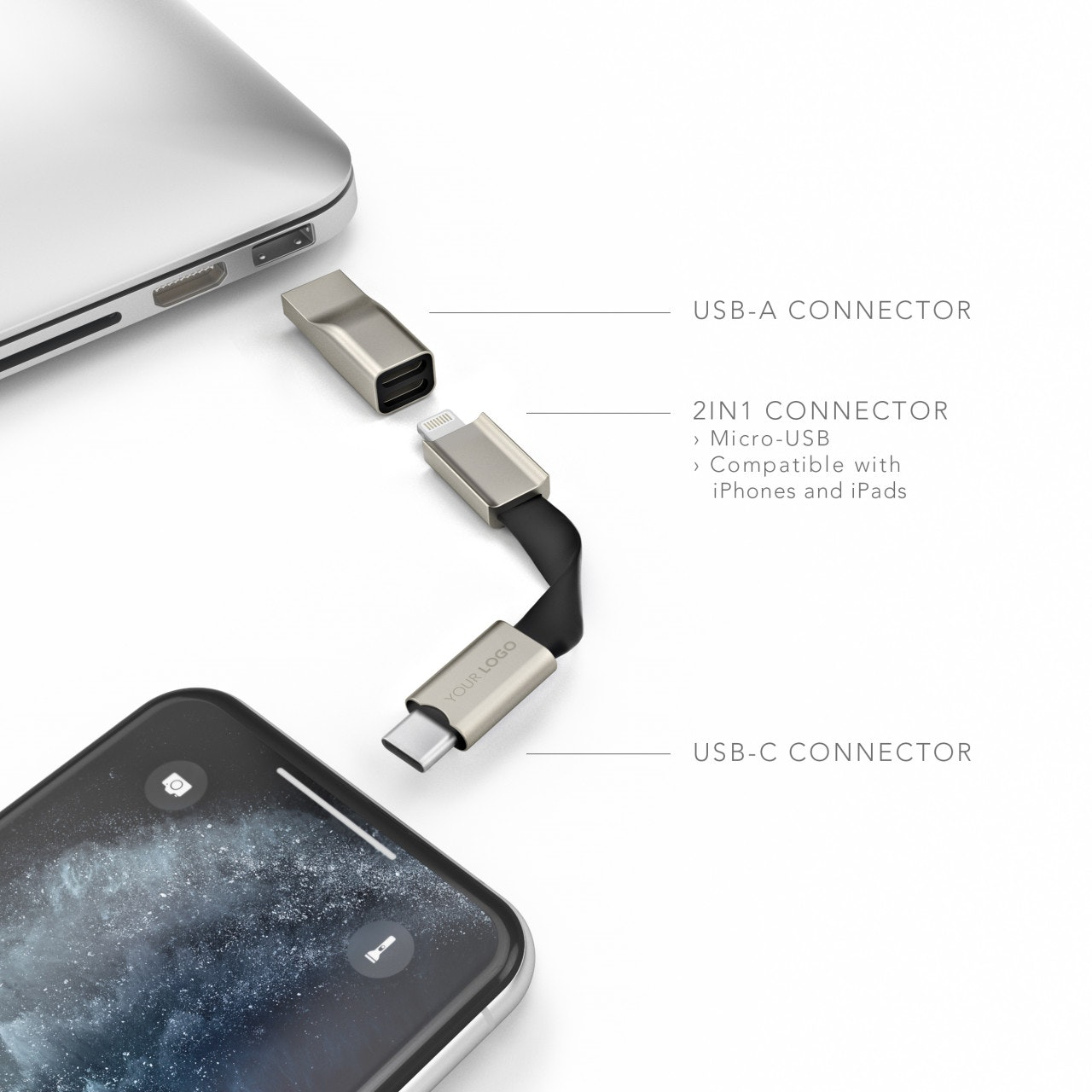 High Five® Signature - The 5in1 Charging Cable